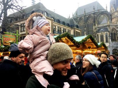 Shiloh and Daddy enjoying the Christmas Market